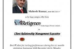 MaheshKumar_Retigence_Sharingwebsite