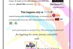 Vijaykumar_BergerPaints_SharingLatest-news-&-BSBS-Recent-placement